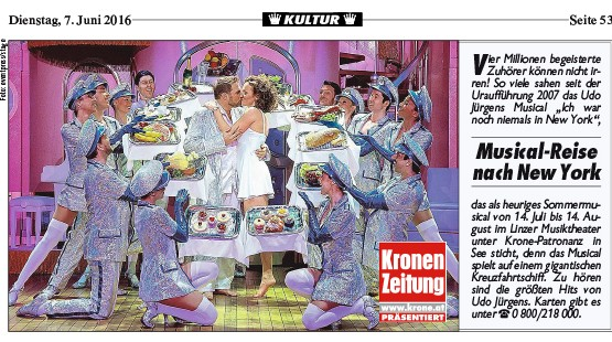 KRONE OÖ - Musical-Reise nach New York - 07.06.2016
